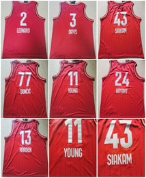red basketball jerseys Australia - 2020 Chicago All-Star Red Jerseys Men Youth basketball Jersey #13 Harden #43 Siakam custom any name or number jersey
