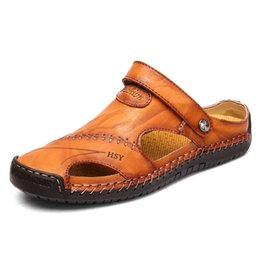 $enCountryForm.capitalKeyWord Australia - New Summer Men Sandals 2019 Leisure Beach Men Shoes High Quality Leather Sandals Male Big Size 39-48