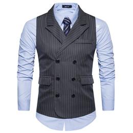 $enCountryForm.capitalKeyWord Australia - Men Brand Suit Vest Mens Sleeveless Suit Jacket Vintage Tweed Vest Fashion Slim fit Casual Spring Autumn Plus Size Waistcoat