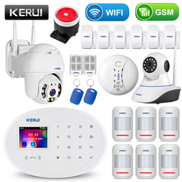 wifi gsm security system Canada - KERUI WIFI GSM Home Security Alarm System With 2.4 inch TFT Touch Panel APP Control RFID Card Wireless Smart Home Burglar Alarm