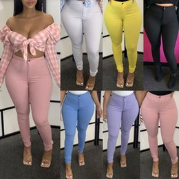 tight female jeans Australia - High Waist Hips Tight Jeans Female Sense Europe And The United States 2020 Spring and Summer Slim Feet Pants Jeans Pants#G4