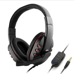 Discount headsets for playstation - Stereo Earphones Music Gaming Headset Headphone Microphone Volume Control With Adapter Cable For Sony PS4 PlayStation 4