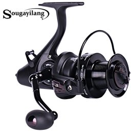 Gear Spinning Australia - spinning Sougayilang 5000 6000 Spinning 5.1:1 Gear Ratio Right Left Hand Interchangeable Fishing 12+1BB Feeder Carp Reel