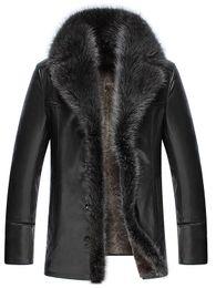 $enCountryForm.capitalKeyWord Australia - Faux Fur Collar men Faux Leather Jackets Winter Thicken Coat jaqueta de couro chaqueta PU Leather jacket men