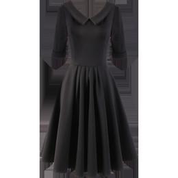 $enCountryForm.capitalKeyWord UK - Xuxi 2019 New Women Clothing Summer Black France Hepburn-Style Campanulaceae Maxi Bodycon Dress Elegant Ladies Dresses FZ076