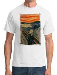 Cotton Scream Australia - Scream Painting - Edvard Munch - Surreal - Mens T-Shirt Funny 100% Cotton T Shirt Jacket Croatia Leather Tshirt