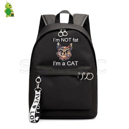 $enCountryForm.capitalKeyWord NZ - Cute Cat Backpack Animal Printed School Bags for Girls College Students Laptop Backpack Casual Fashion Travel Rucksack