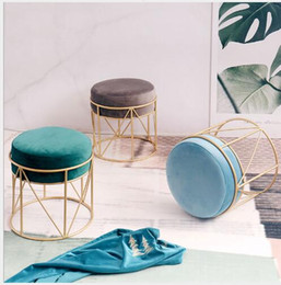 Wholesale stand chair for sale - Group buy Nordic Simple Household Leisure Chair Fashionable Nail Makeup Stand INS Iron Art Living Room Creative Small Round stool