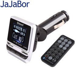 JaJaBor Car MP3 Player Bluetooth Kit voiture mains libres Affichage de l'identifiant de l'appelant Grand écran LCD Support Carte TF / Flash USB avec télécommande