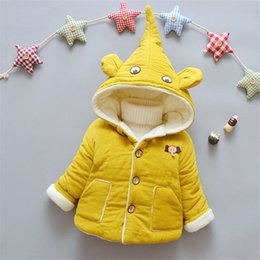 Parkas Outdoors Australia - good quality 2019 new autumn winter baby girls warm thick jackets infant kids cartoon parkas cotton filling toddle outdoor coats