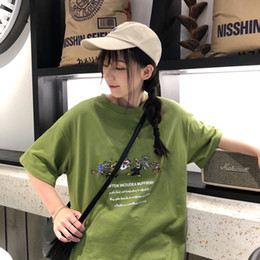 Reflective T Shirts Australia - Brand Women's Cotton Short Sleeve T-Shirt Top 2019 Summer New 3M Reflective Cartoon Character Print Short Sleeve T-Shirt Casual Loose Tees56