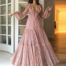 $enCountryForm.capitalKeyWord Australia - Princess 2019 Prom Dresses Long Off The Shoulder Appliques Long Lace Evening Gowns Quinceanera Vestidos Custom Made Bridal Guest Dress
