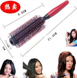 hair holder comb UK - 1 Pack Comb Hair Brush Hairdressing Brushes Curly Plastic Handle Styling Barber Combo Pocket Long Round Holder Good-Looking Popular Beard NR