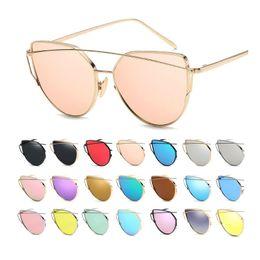 $enCountryForm.capitalKeyWord Australia - 20Colors Double Metal Nose Bridge Unsex UV400 protection Sun glasses Fashion men women Sunglasses G1904 cycling glasses free shipping