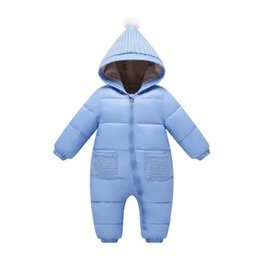 31f3eaf7c98 good quality baby girls winter rompers cotton hooded velvet jumpsuit  newborn girl casual warm thicken pajamas down snowsuit clothing