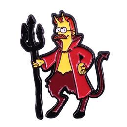 $enCountryForm.capitalKeyWord UK - Bob's Burgers inspired badge cute demon pin funny Halloween gift personalized cartoon jewelry