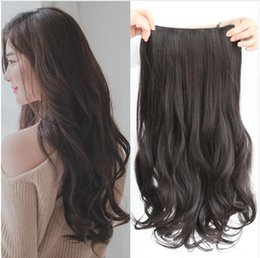 darker black cosplay Canada - 5 clips on Curly Thick Hairpiece clip in Hair Extensions Heat Resistant Fiber Synthetic Hair Party Cosplay For Human