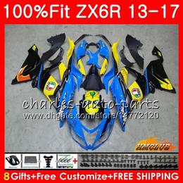China Injection For KAWASAKI NINJA ZX 6R ZX-636 ZX6R 13 14 15 16 17 32HC.0 ZX 636 600CC ZX-6R 2013 2014 2015 2016 2017 OEM Fairing New Shark Blue cheap pink kawasaki ninja zx6r suppliers