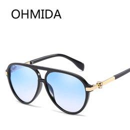 7cf7d35ca39 OHMIDA Fashion Vintage Skull Design Sunglasses Women Luxury Brand Driver Sun  Glasses Retro Plastic Goggle Mirror Sunglass Female
