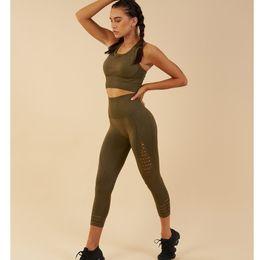 $enCountryForm.capitalKeyWord NZ - Brand Design Quality seamless Women 2 Piece Yoga Set Women Bra+ yoga Pants Sportsuite Fitness Sport Leggings Gym Set Sportswear #305598