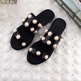 $enCountryForm.capitalKeyWord Australia - AGUTZM Slippers Women Summer String Bead Beach Shoes 2018 Fashion slippers, women's shoes v75