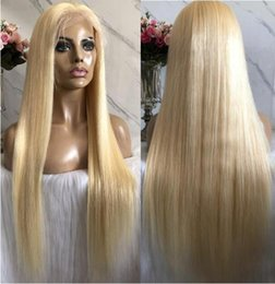$enCountryForm.capitalKeyWord UK - Celebrity Wigs Lace Front Wig #613 Blonde Silky Straight 10A Grade Malaysian Virgin Human Hair Full Lace Wigs for Woman Fast Free Shipping