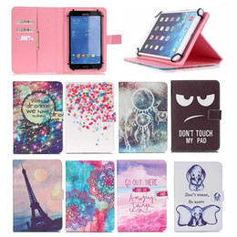 China Wallet Leather Australia - Fashion Flower Elephant Paris Universal PU Wallet PU Leather Flip Stand Tablet Case For iPad mini 7 inch 10 inch tablet case