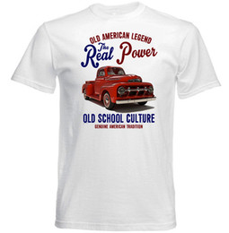 Cotton Trucks Australia - VINTAGE AMERICAN FORD PICK TRUCK F1 - NEW COTTON T-SHIRT funny 100% Cotton t shirt harajuku Summer 2018