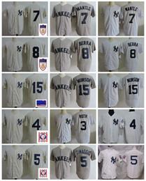 Vintage baseball jerseys online shopping - Vintage New Golden York Mickey Mantle Baseball Jersey Yogi Berra Babe Ruth Joe DiMaggio Lou Gehrig Thurman Munson