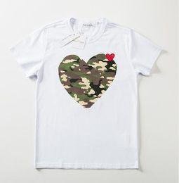 $enCountryForm.capitalKeyWord Australia - Fashion designer t shirt Mens tide PLAY brand Tshirt men women fashion loose white T-shirt camouflage Little red heart print casual Tees
