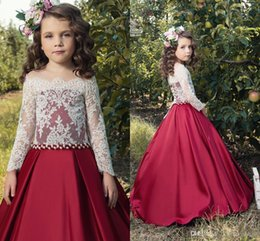 $enCountryForm.capitalKeyWord NZ - On Sell Jewel Ball Gown Bow Sequins Cute Beautiful Wedding Dresses Flower Girl Dresses Pageant Dresses