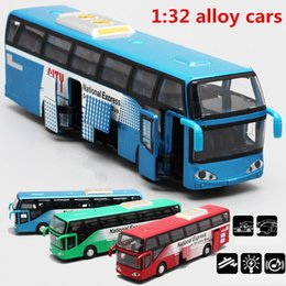 pull back mini cars UK - 1:32 alloy car models,high simulation city bus , metal diecasts, toy vehicles, pull back & flashing & musical, free shipping S200114