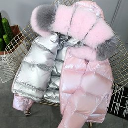 Piumino viso luminoso donna donna 2019 collo corto in pelliccia di volpe collo alto da donna cappotti in pelliccia in Offerta