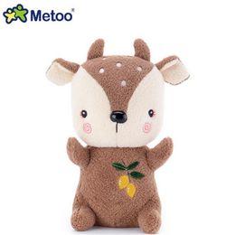 $enCountryForm.capitalKeyWord Australia - 1pcs 21cm Children Cute Cartoon Animal Stuffed Soft Plush Toys Kids Rabbit Lovely Deer Toy Metoo Birthday Gifts Z138