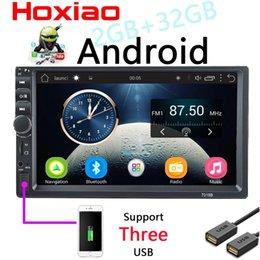 Опт 7-дюймовый Android Автомобильный радиоприемник Стерео GPS-навигация Bluetooth USB SD 2 Din Touch Мультимедийный проигрыватель Аудио Автомагнитола