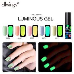 $enCountryForm.capitalKeyWord Australia - 6ml 18 Colors New Arrival Nail Stamping Gel Nail Polish Luminous Gel UV LED Varnish Soak Off Art Color TSLM1