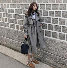 $enCountryForm.capitalKeyWord Australia - Korean style women casual loose trench with sashes 2019 new arrival spring long elegant coats ladies Overcoat Outerwear