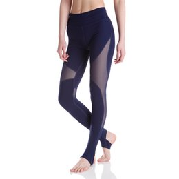 $enCountryForm.capitalKeyWord NZ - Fashion Casual Womens Black White Wide Waistband Lnsert Stirrup Ladies Mesh Pants See Through Leggings Y190603