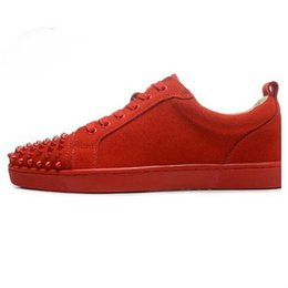 $enCountryForm.capitalKeyWord UK - wholesale Best Designer Sneakers Famous Brand Red Bottom designer Mens Luxury spike shoes Genuine Leather,White Spiked Toe Flats 3A 08xs