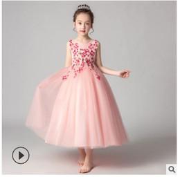 Los niños de largo vestido de noche princesa vestido de novia falda completa falda jardín de infantes vestido de piano pasarela ropa