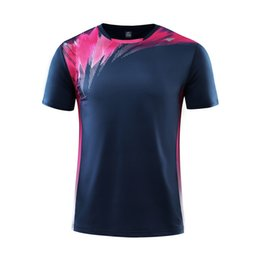 Sportswear T Shirt Badminton Australia - Men Women Couple Short Sleeve Golf Table Tennis T Shirts Sport Clothing Sportswear Badminton Shirt Soccer Jersey Running Clothes