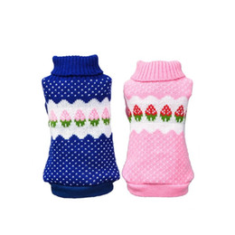 chihuahua sweaters wholesale UK - Small Dog Strawberry Clothes Chihuahua Dog Sweater Puppy Warm Coat Cheap Clothing Pet Dogs Cat Knitwear Winter Costume For Gatos Dog Apparel