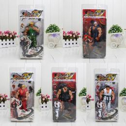 $enCountryForm.capitalKeyWord Australia - 5PCS 18CM Street Fighter IV Survival Mode Ryu Guile Ken Games Action Figures Collection Toy AIJILE