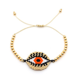 $enCountryForm.capitalKeyWord Australia - Go2boho MIYUKI Delica Bracelets Gold Evil Eye Bracelet For Women Jewelry Insta Fashion Bijoux Japan Gold Plate Plastic Beads New