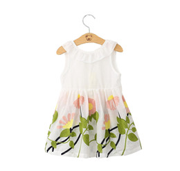 Beautiful Tutu For Girls Australia - New fashion trend, summer, breathable and cool, suitable for out-of-the-go girls, beautiful embroidered cotton, V-neck vest dress