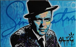 $enCountryForm.capitalKeyWord Australia - High Quality Alec Monopoly Handpainted Abstract Graffiti Portrait Art Oil Painting Frank Sinatra On Canvas Wall Art Home Decor g45