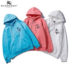 $enCountryForm.capitalKeyWord Australia - New products tide brand chest Pegasus logo embroidery hoodies men and women with the same paragraph loose plus velvet casual hooded sweater