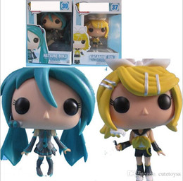 $enCountryForm.capitalKeyWord Australia - Promotion 9-10cm Anime Toys For Children FUNKO POP Silent mirror twin model Action Figure Collection Toy Toys For Kids gift factory price