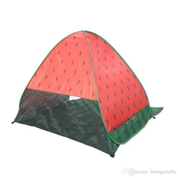 Gazebo campinG online shopping - Widesea New Pop Up Beach Tent Watermelon UV Protective Quick Automatic Open Fishing Hiking And Camping Gazebo hy