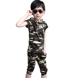 $enCountryForm.capitalKeyWord Australia - 2019 Baby Summer Kids Suit Teenager Costume Cotton Toddler Tracksuit Boys Clothes Casual Children Camouflage Clothing Boy Set J190716